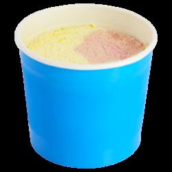 Dessertbeker vanille-aardbei