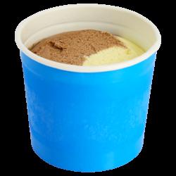 Dessertbeker vanille-chocolade